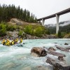 Whitewater rafting near Golden in Yoho National Park.