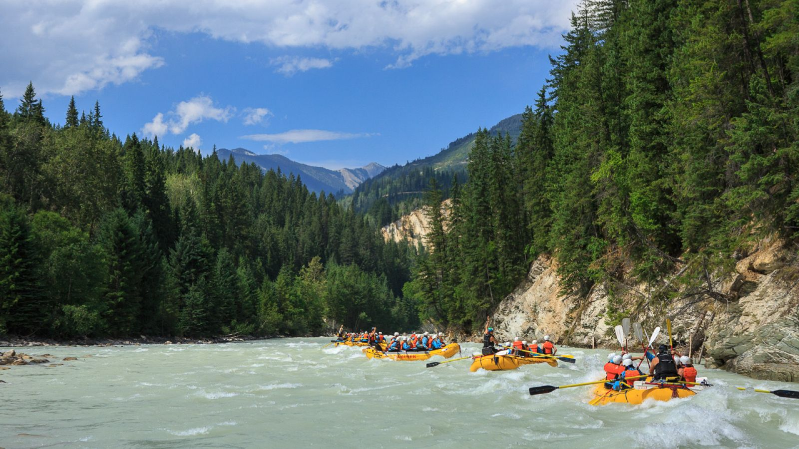A great day for a rafting trip.