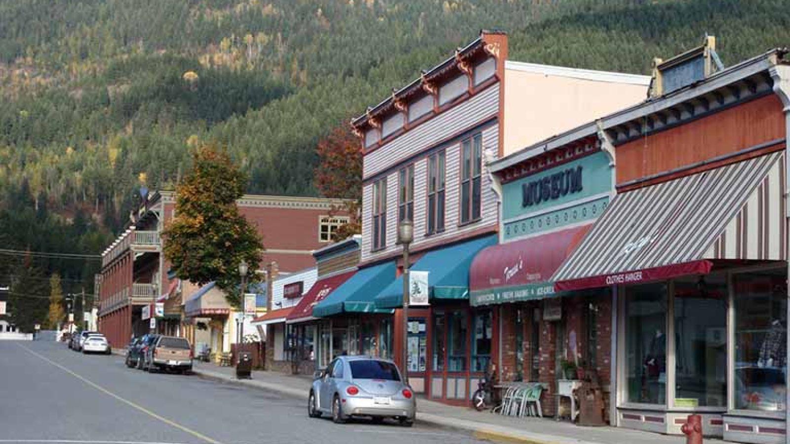The Kaslo Mining Museum on Front Street in downtown Kaslo.