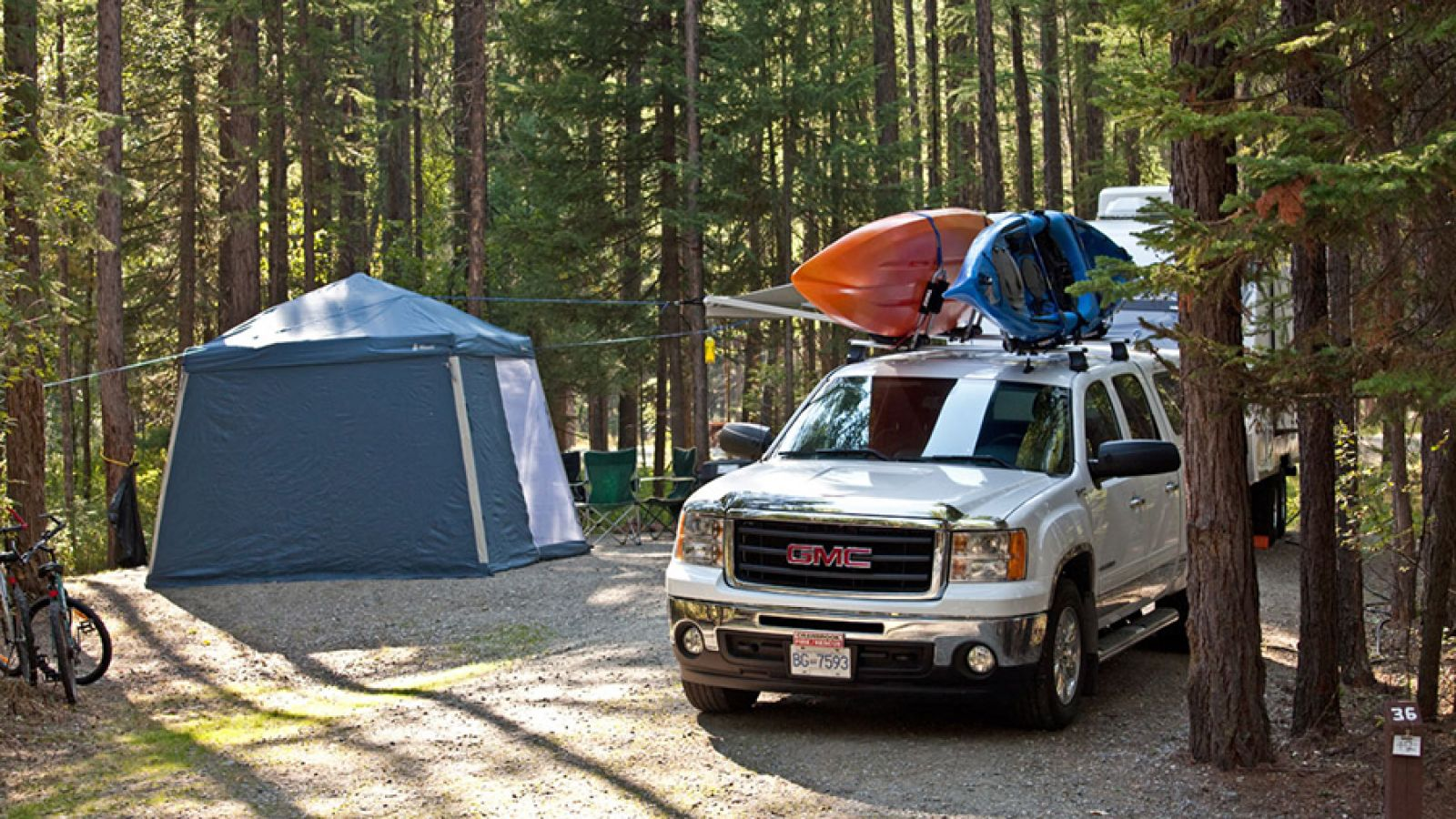 A 35-site campground.