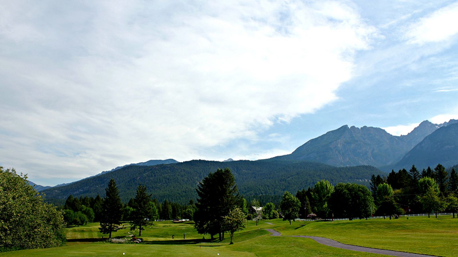 9-hole course at Fairmont Hot Springs Resort.