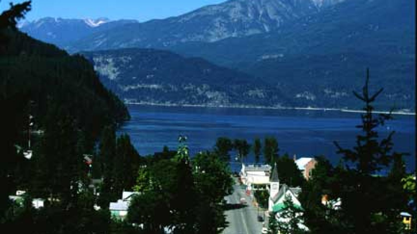 The village of Kaslo from above.