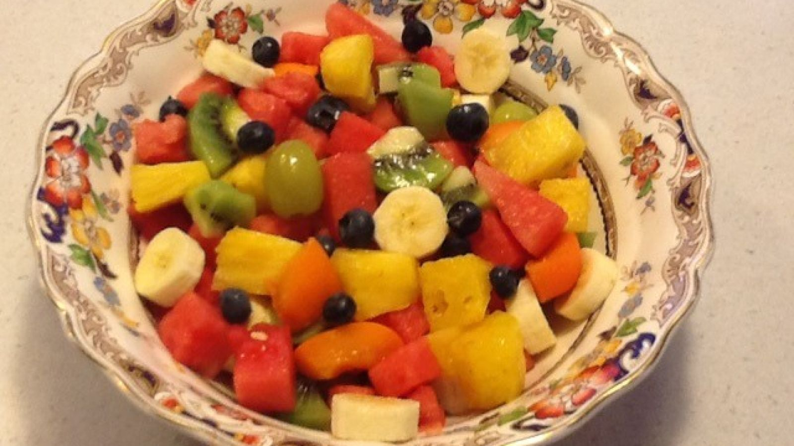 Breakfasts include fresh fruit.