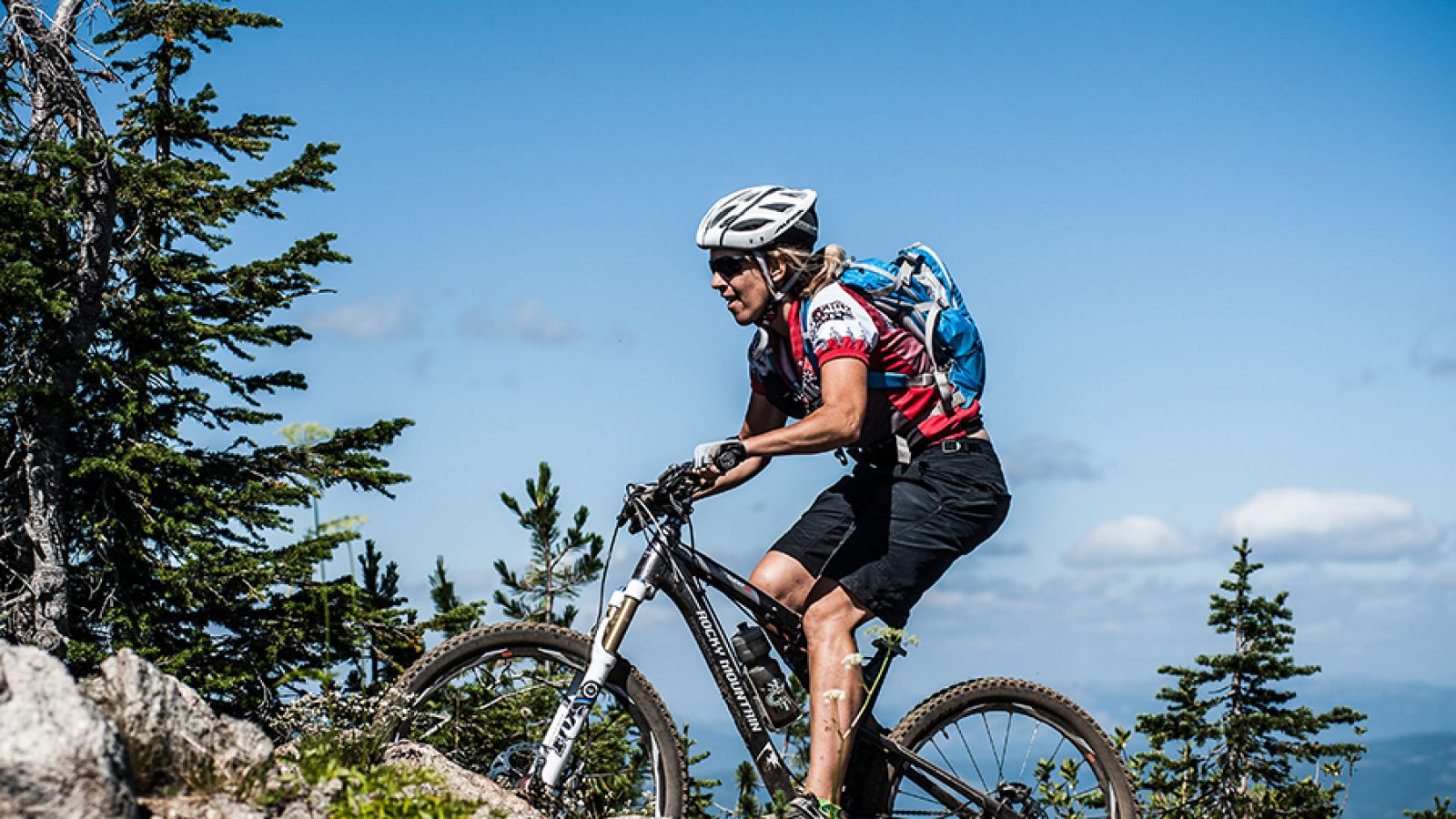 Biking Rossland.