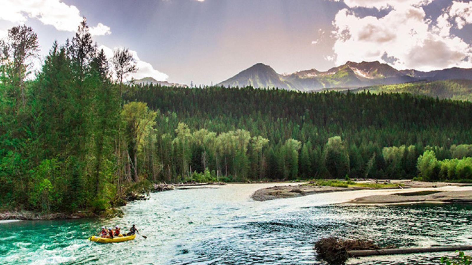 The majestic Lardeau River.