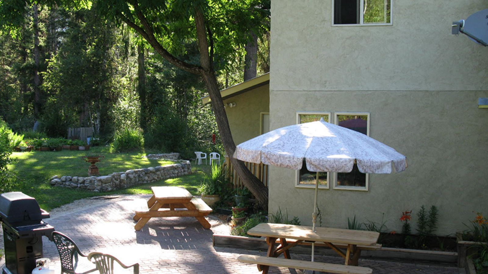 You'll enjoy the patio in the summer.