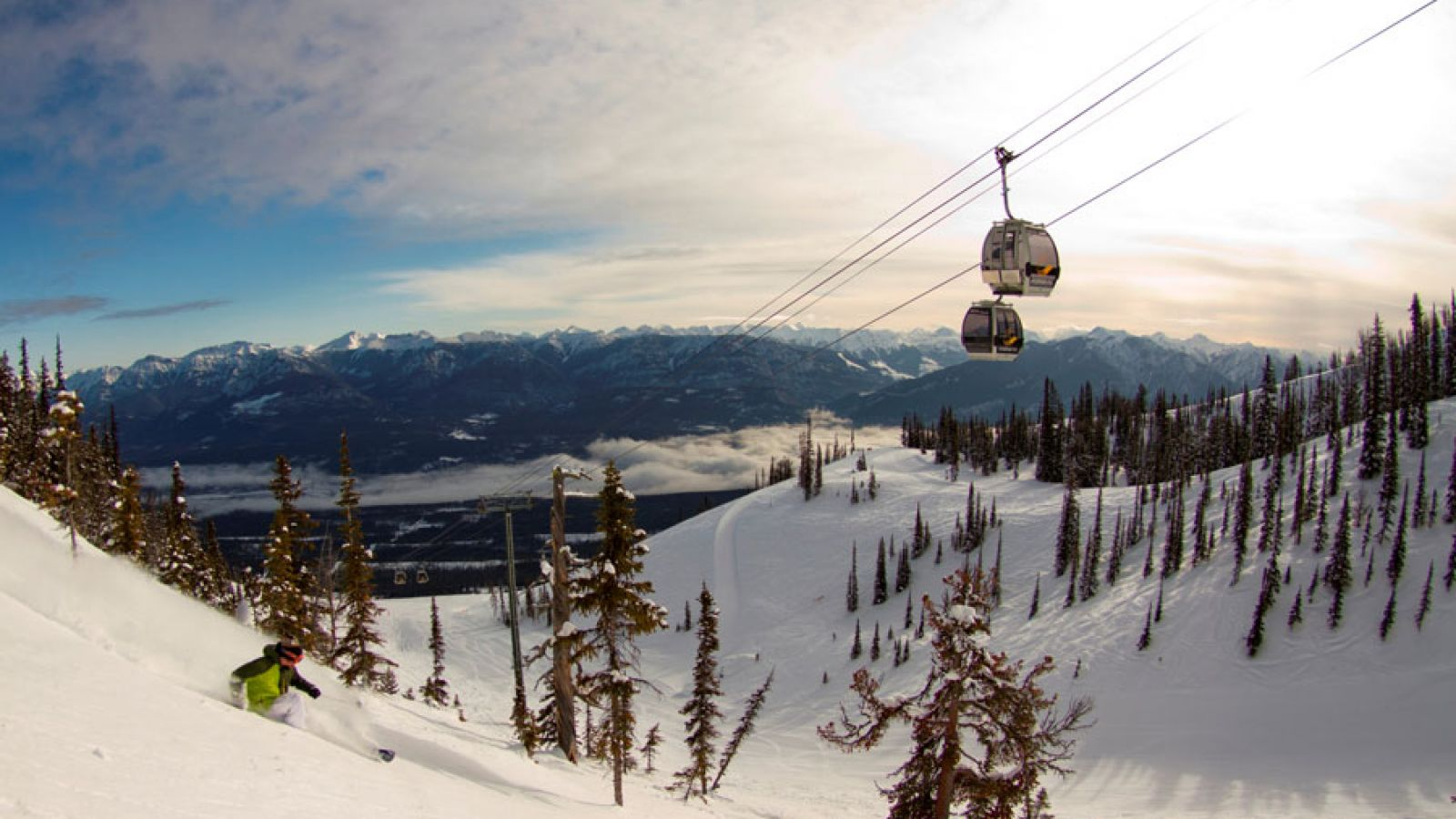 Winter at Kicking Horse Mountain Resort.