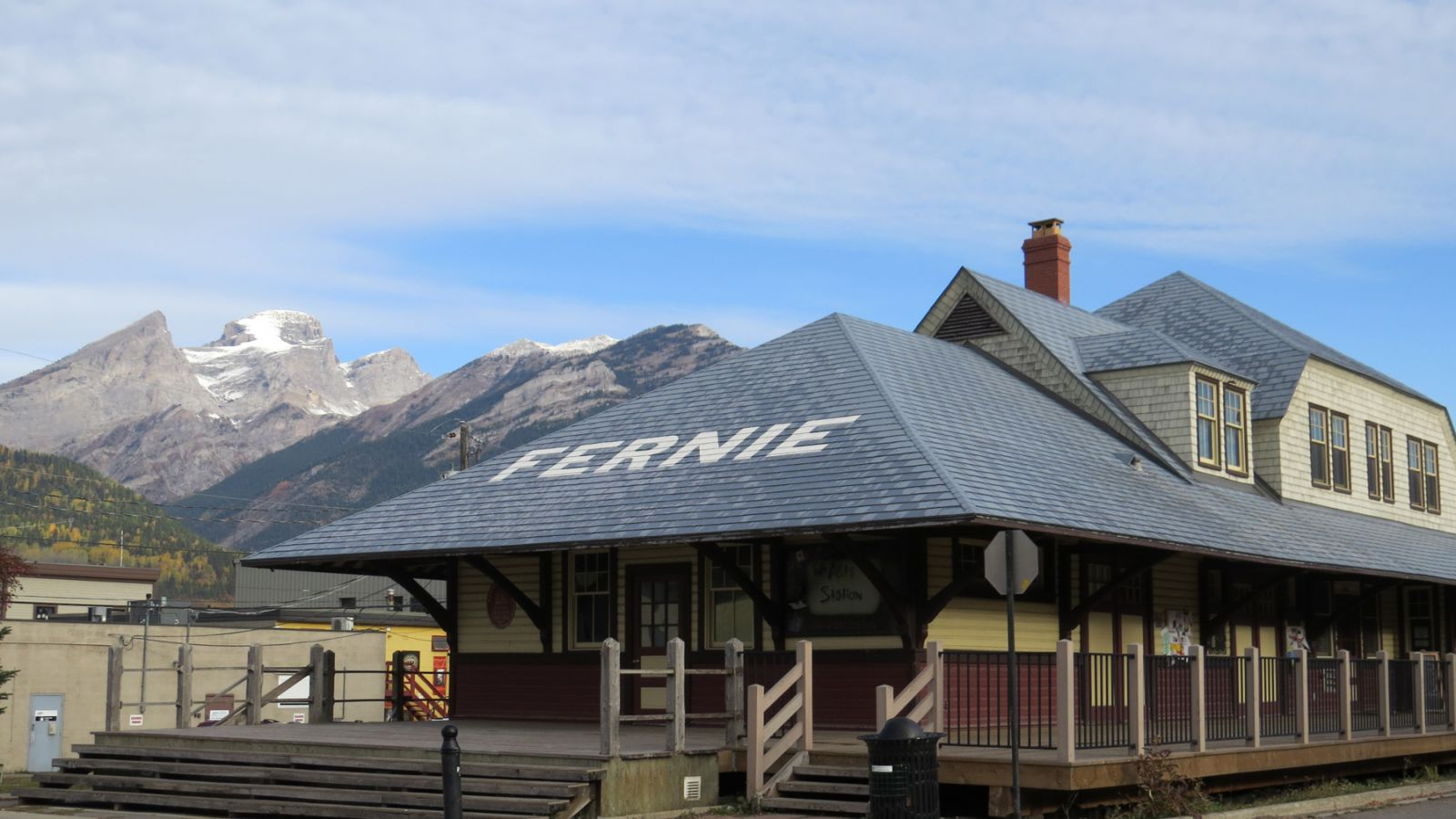 A turn-of-the-century railroad station.