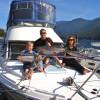 On the mighty Kootenay Lake.
