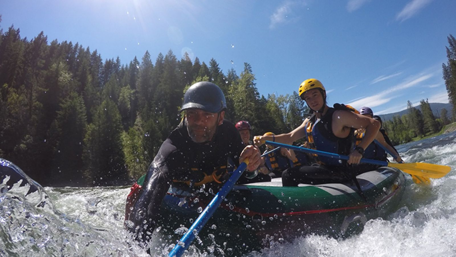 Exciting white water rafting.