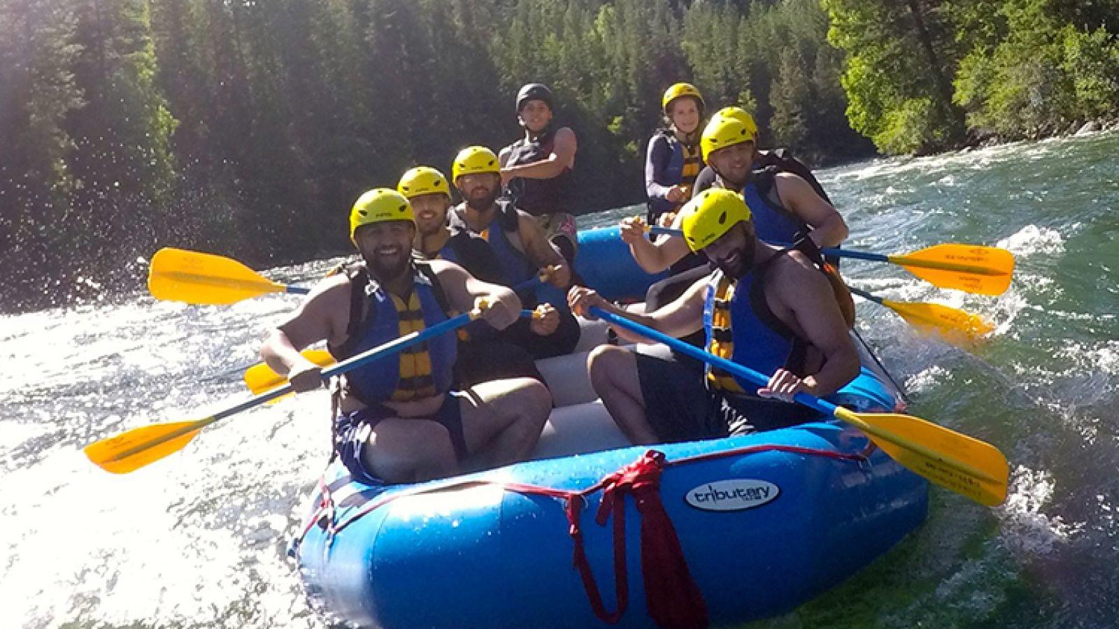 Rafting tours.
