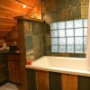 Cabins feature soaker tubs.