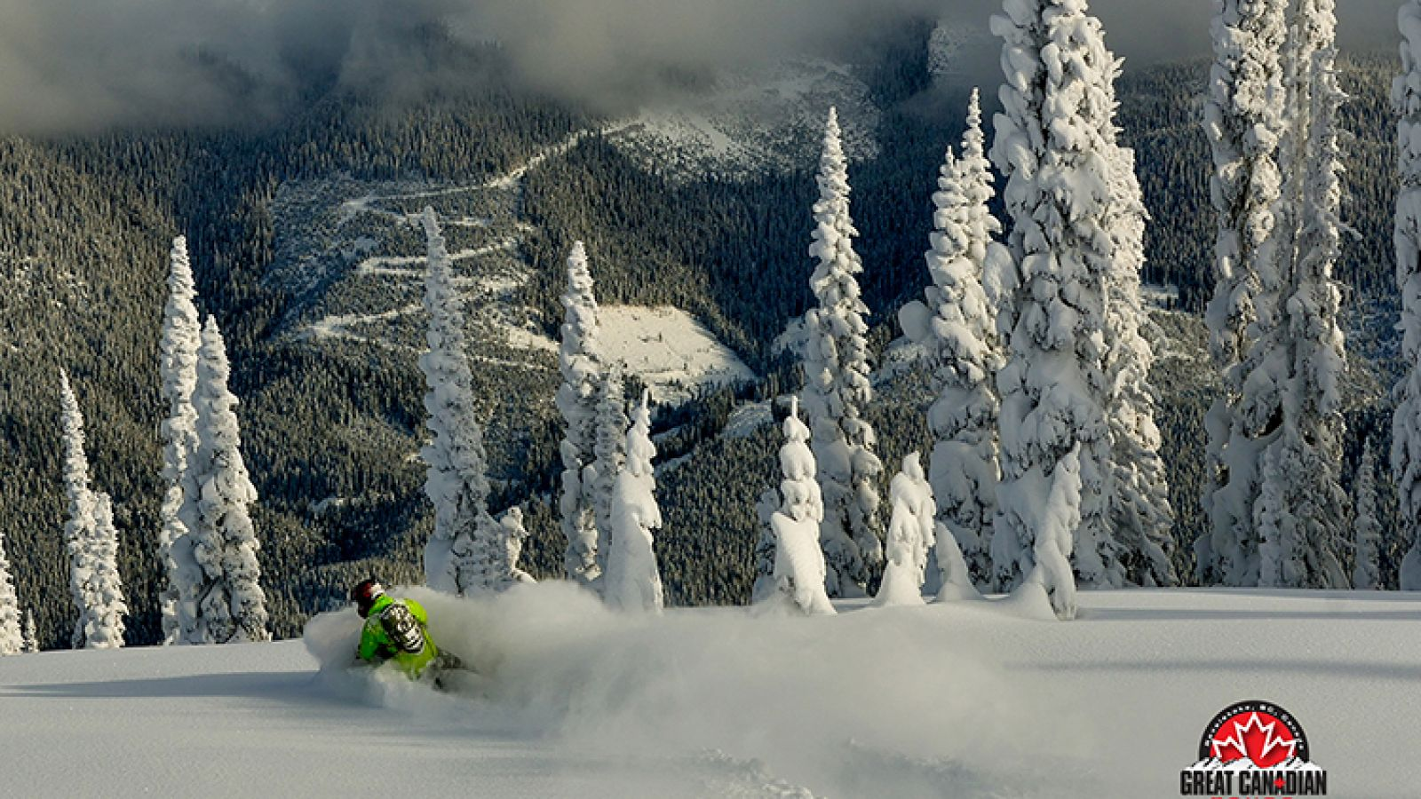 Snowmobiling with Great Canadian Tours in Revelstoke.