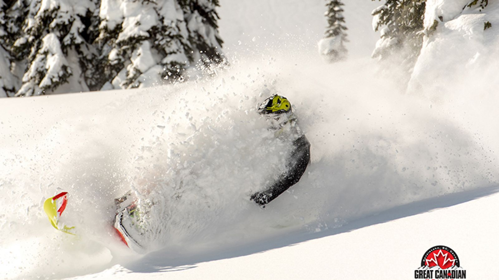 Enjoy the thrill of deep powder turns with Great Canadian Tours.