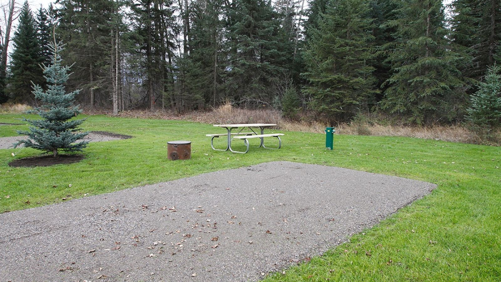 Each site has a firering and picnic table.