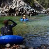 Tubing the Skookumchuck Creek.