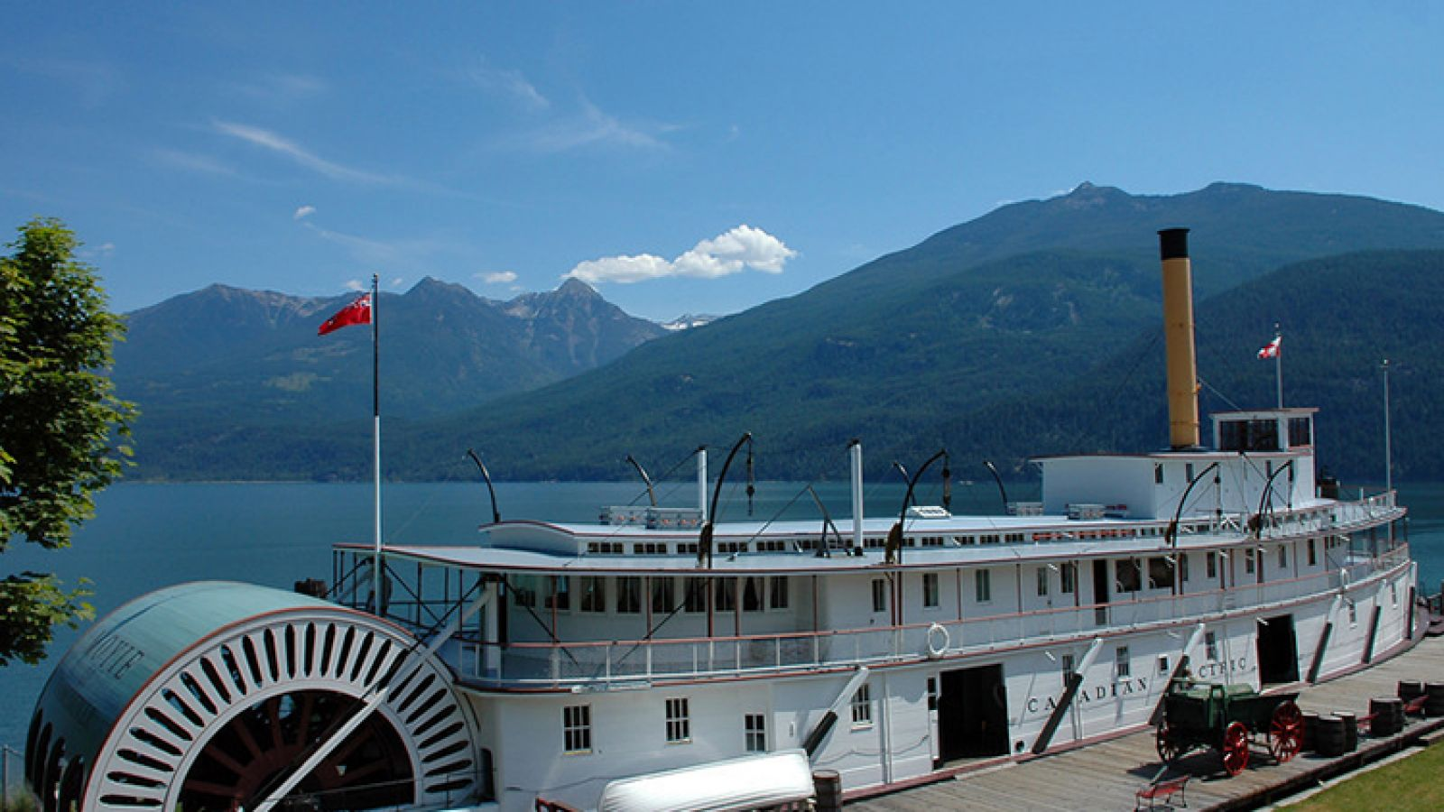 The historic SS Moyie in the village of Kaslo.