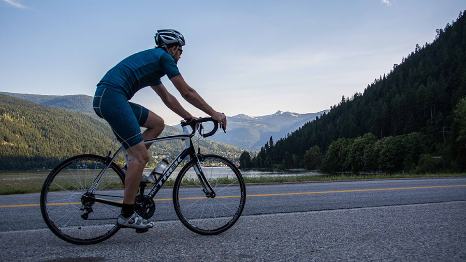 The area is a cyclist's paradise.