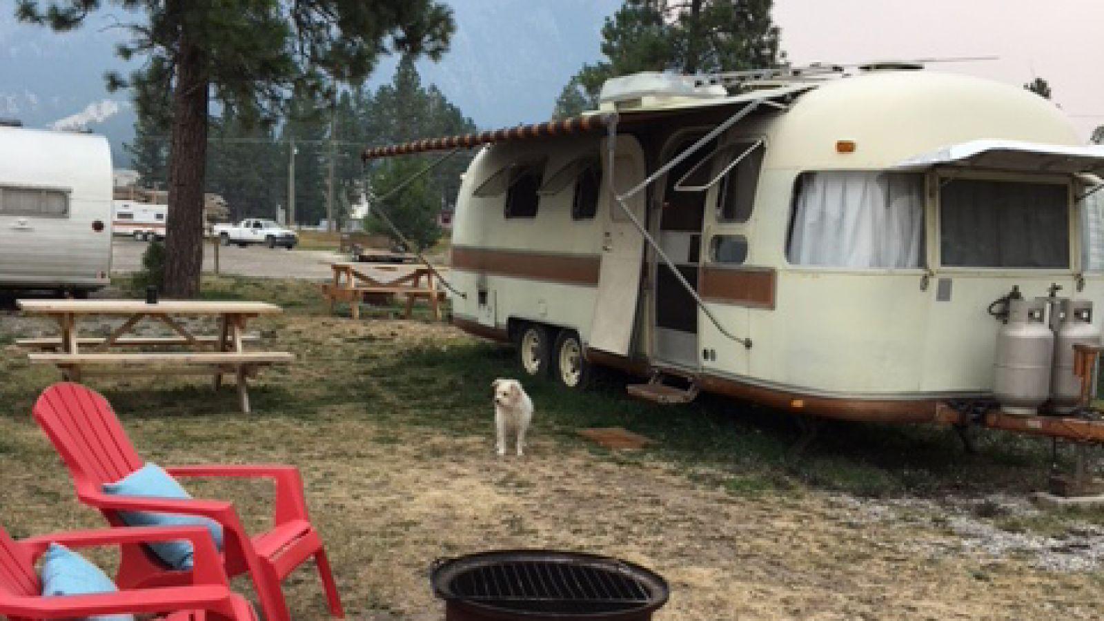 Vintage trailer rentals.