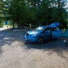 Charging at the campground in New Denver. KootenayEVFamily.ca