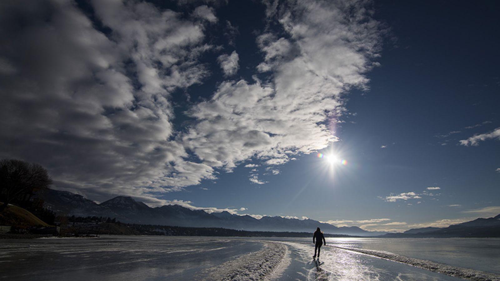 Skate, ski or walk.