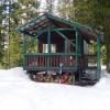 Warming hut.