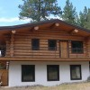 Log chalet vacation rental.