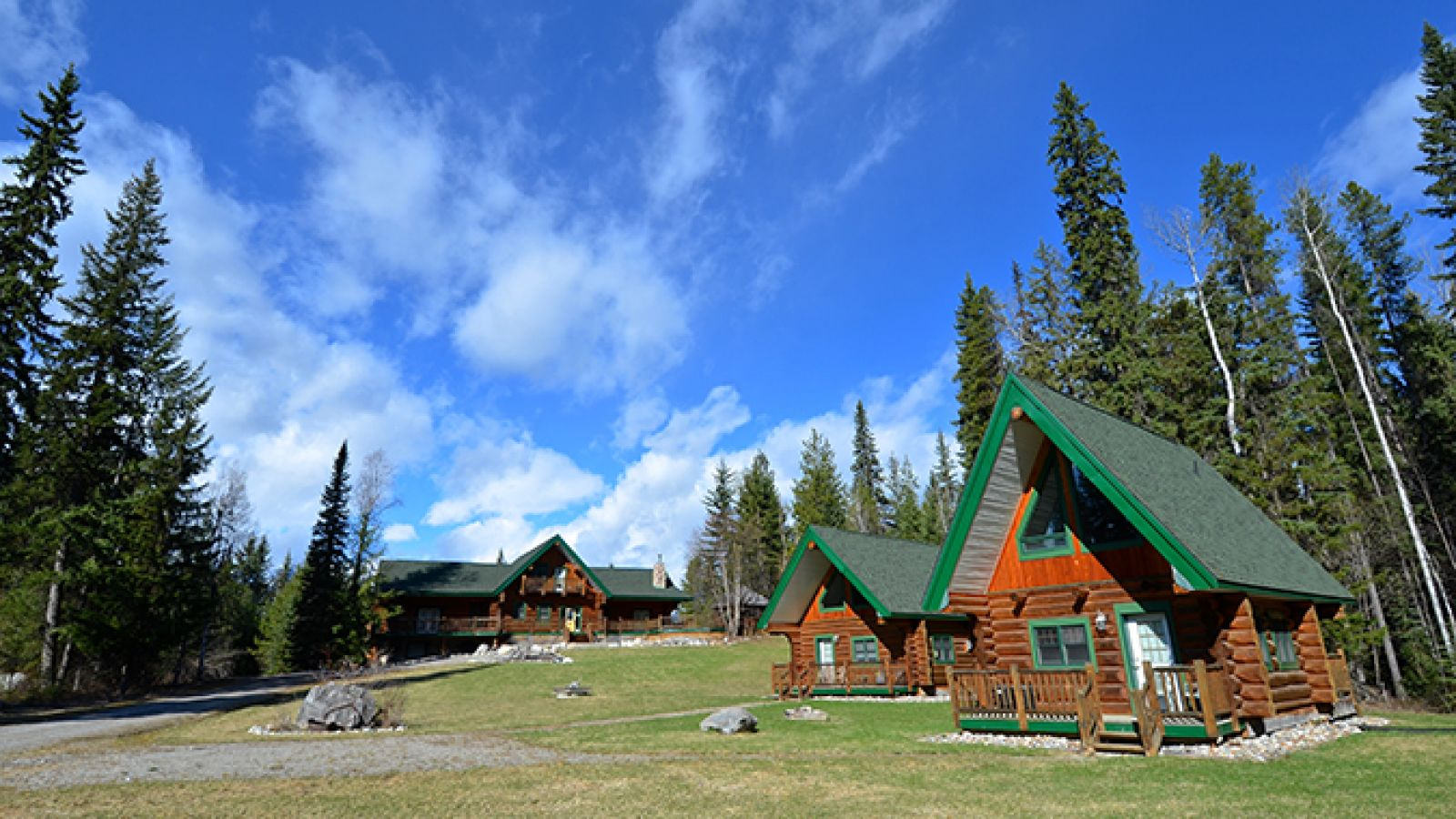 Lodge rooms and cabin overnighting options.