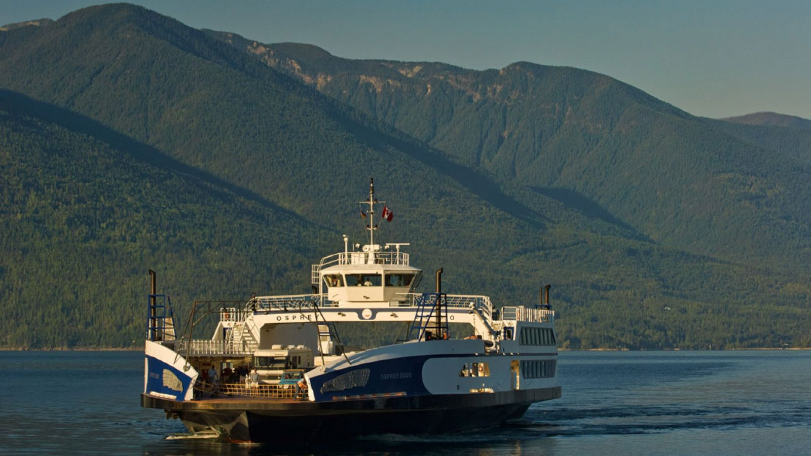 Kootenay Lake and the Osprey Ferry.