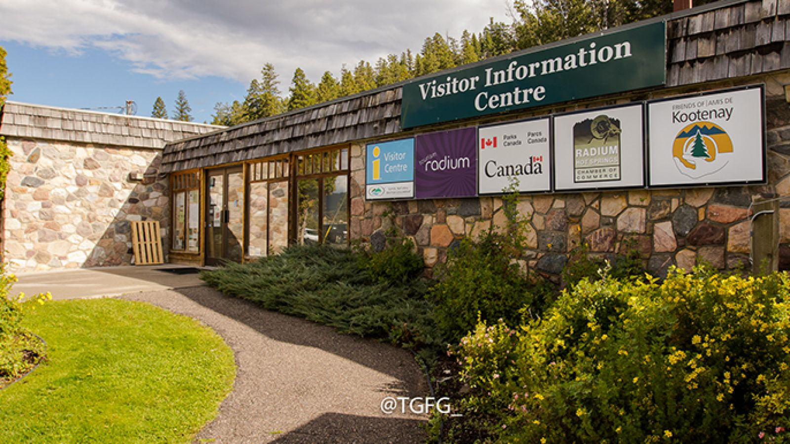 The Radium Hot Springs Visitor Centre.