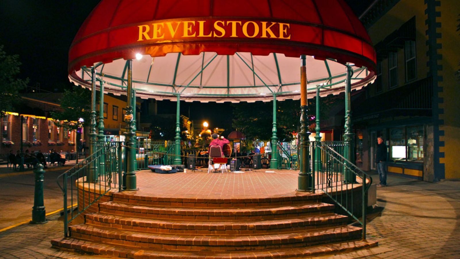 Nightly entertainment during the summer in downtown Revelstoke