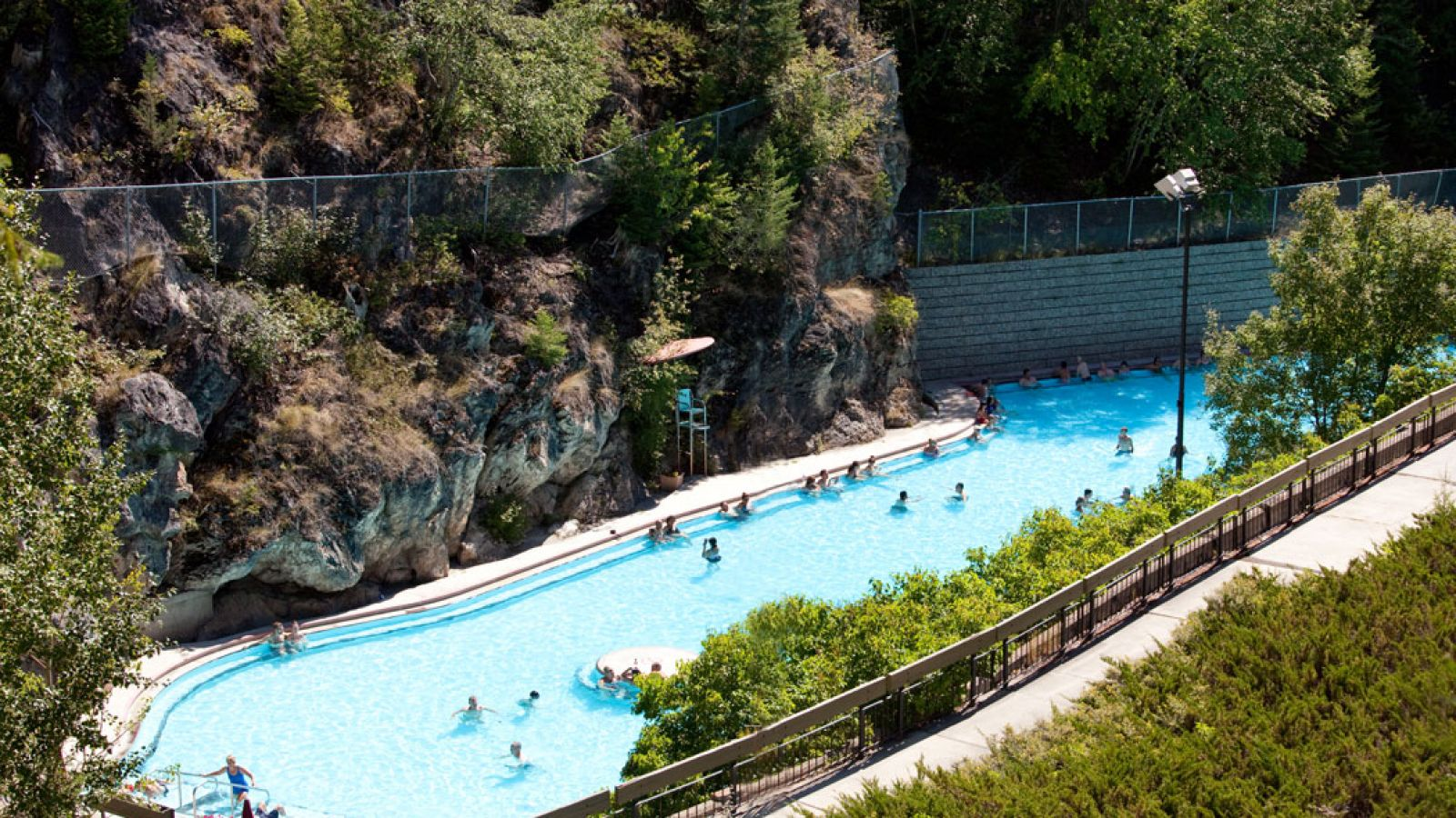 Radium Hot Springs pools are located inside the park at the southern gateway.