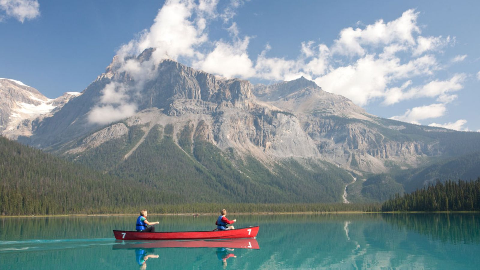 Canoeing Emerald Lake.