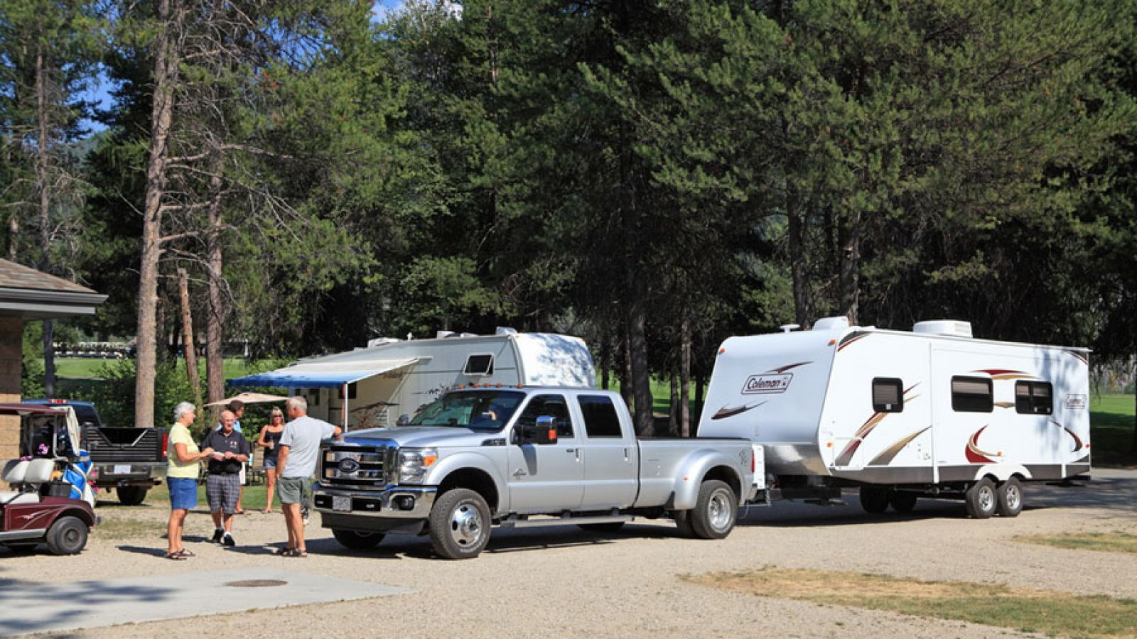 The 20-site RV Park is adjacent to the golf course.