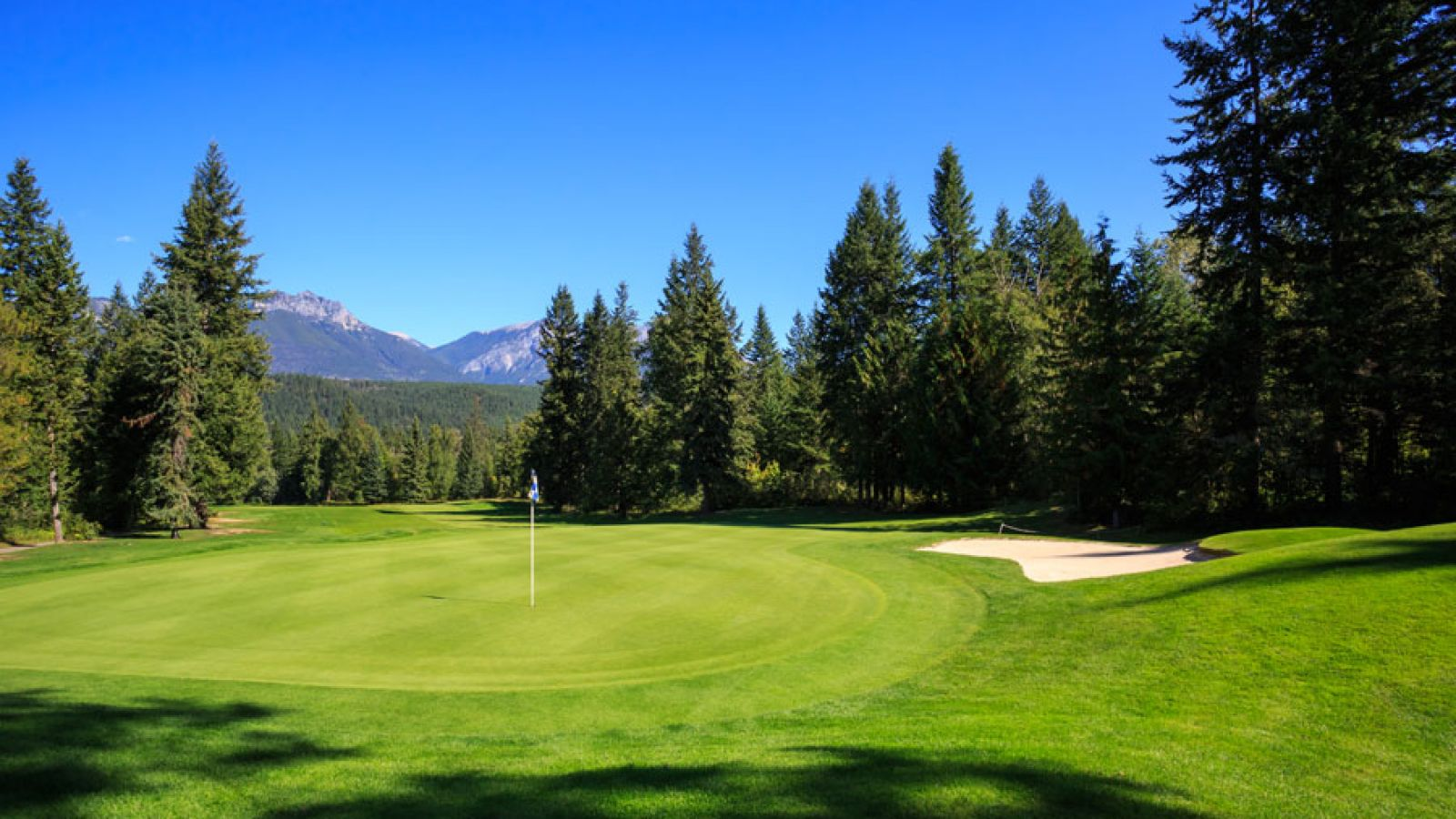A beautiful course with sweet mountain views.