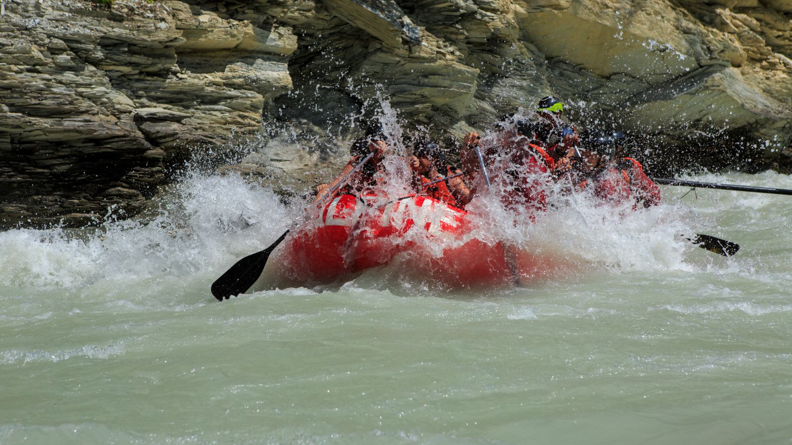 Join Alpine Rafting for a rafting adventure down the Kicking Horse River.