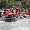 The group travels the Kicking Horse River.