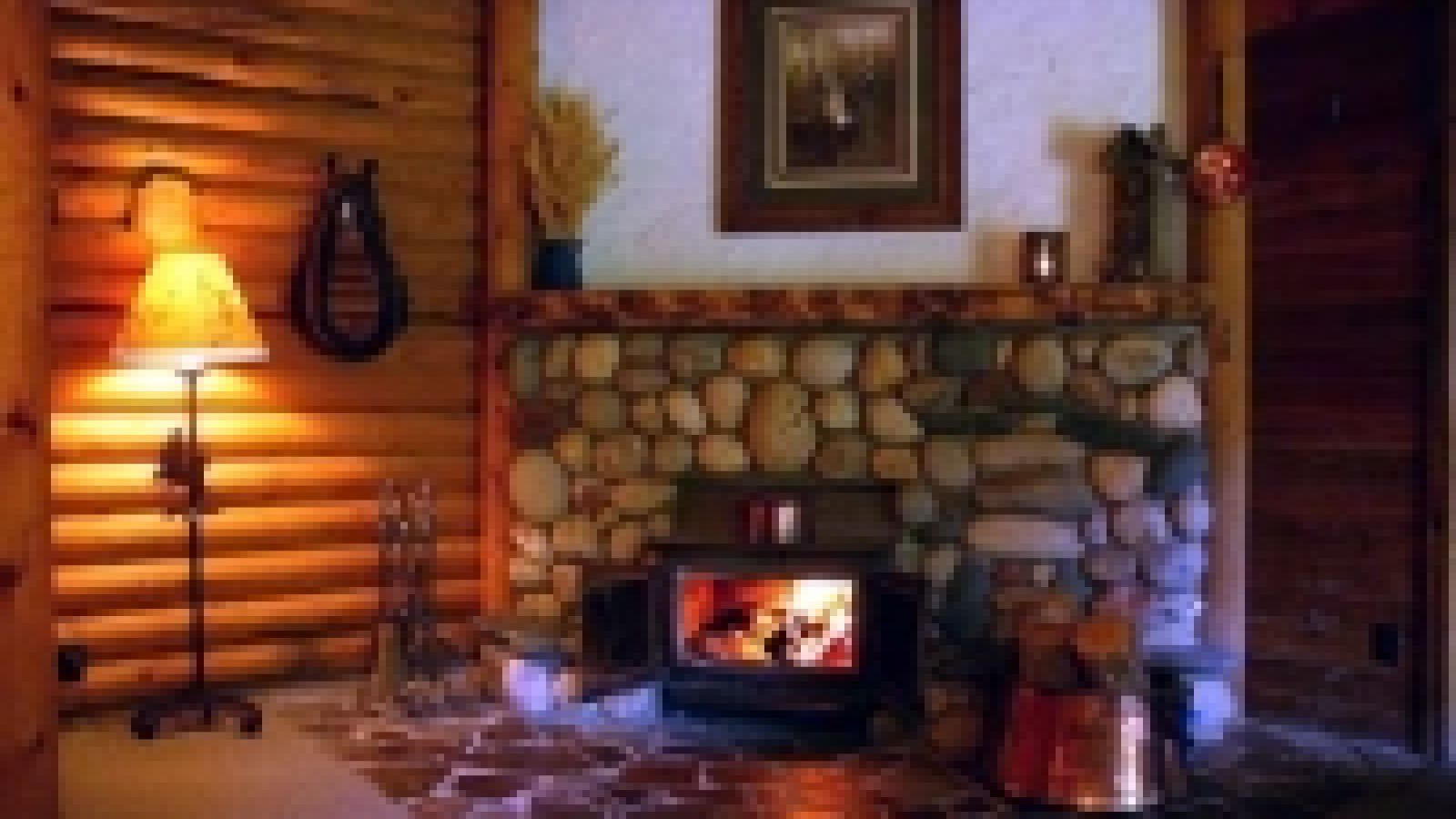 Log cabins are romantic and private.