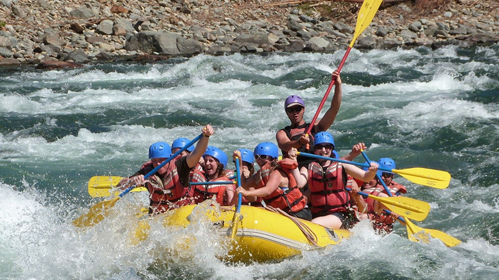 Wilderness whitewater rafting.