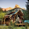 The beautiful timber frame lodge.