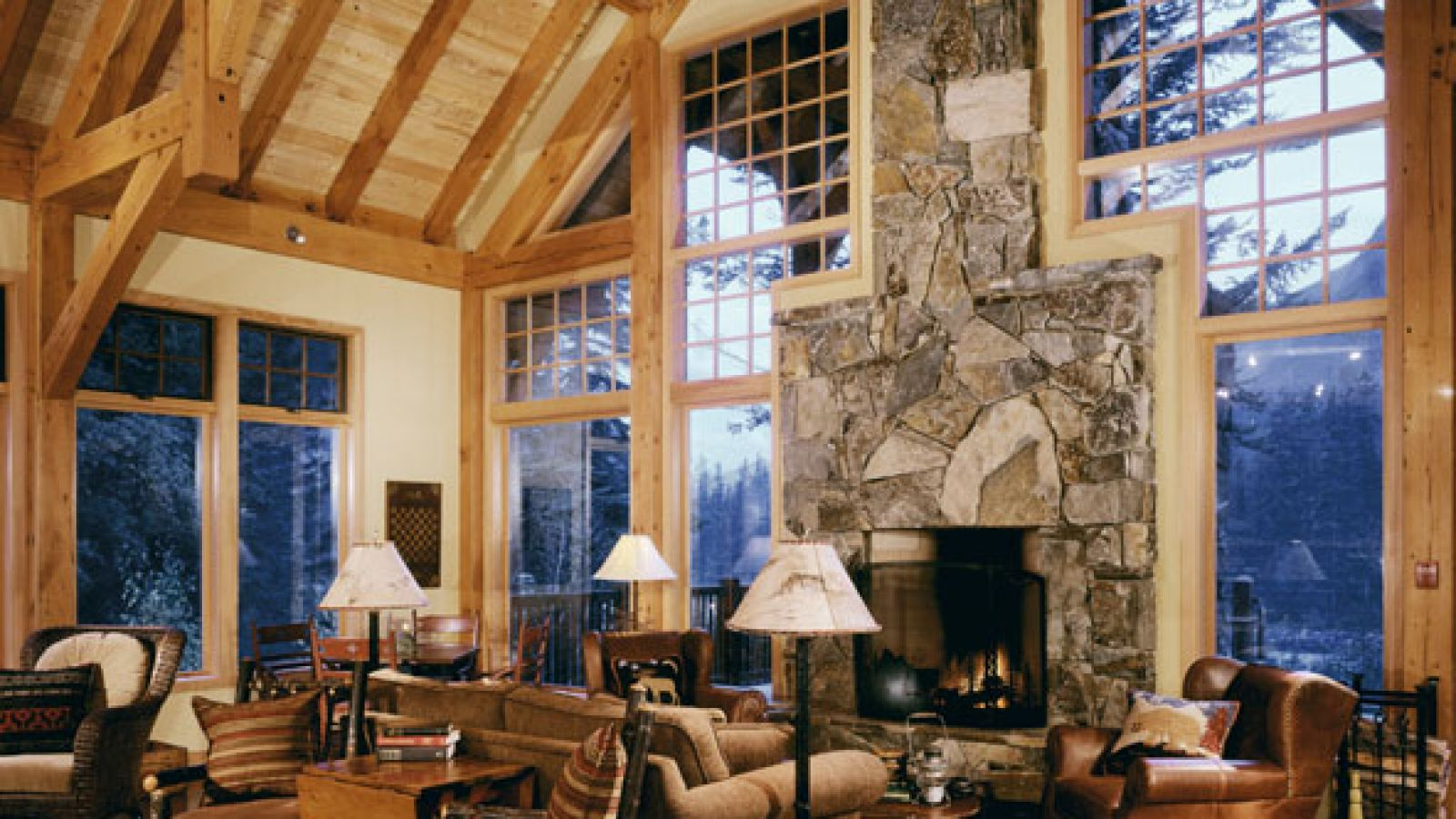 The lodge's great room.