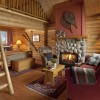 Cozy log cabins are furnished in handcrafted solid pine.