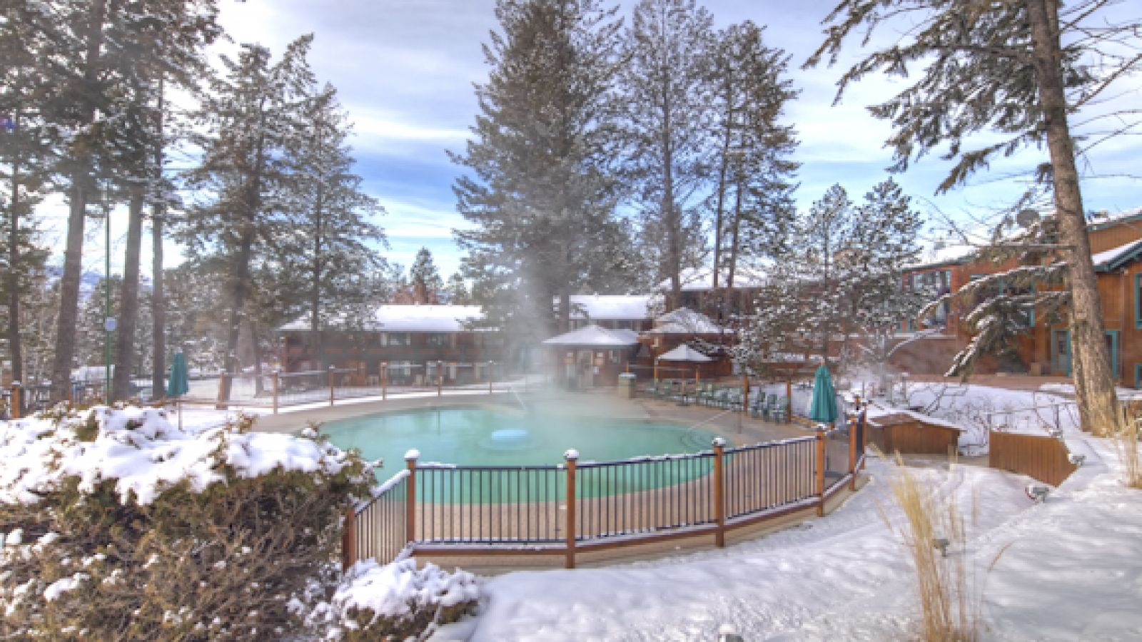 Enjoy the hot pools year-round.