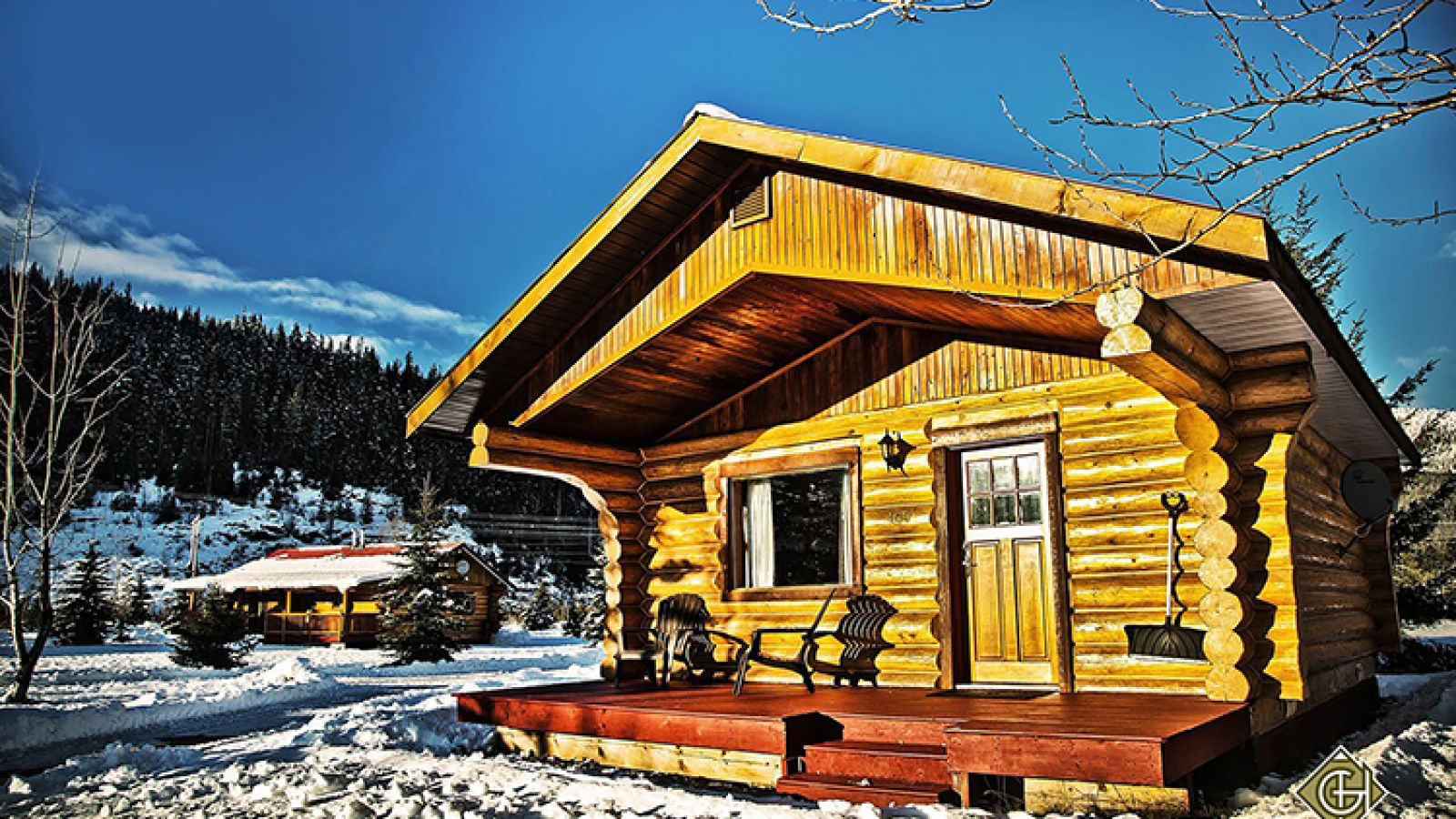 Cozy log cabin accommodation.