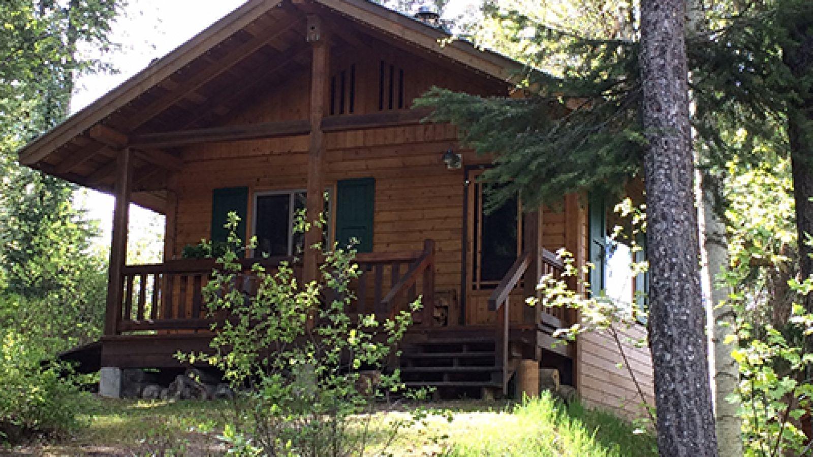 Hillside cabin.
