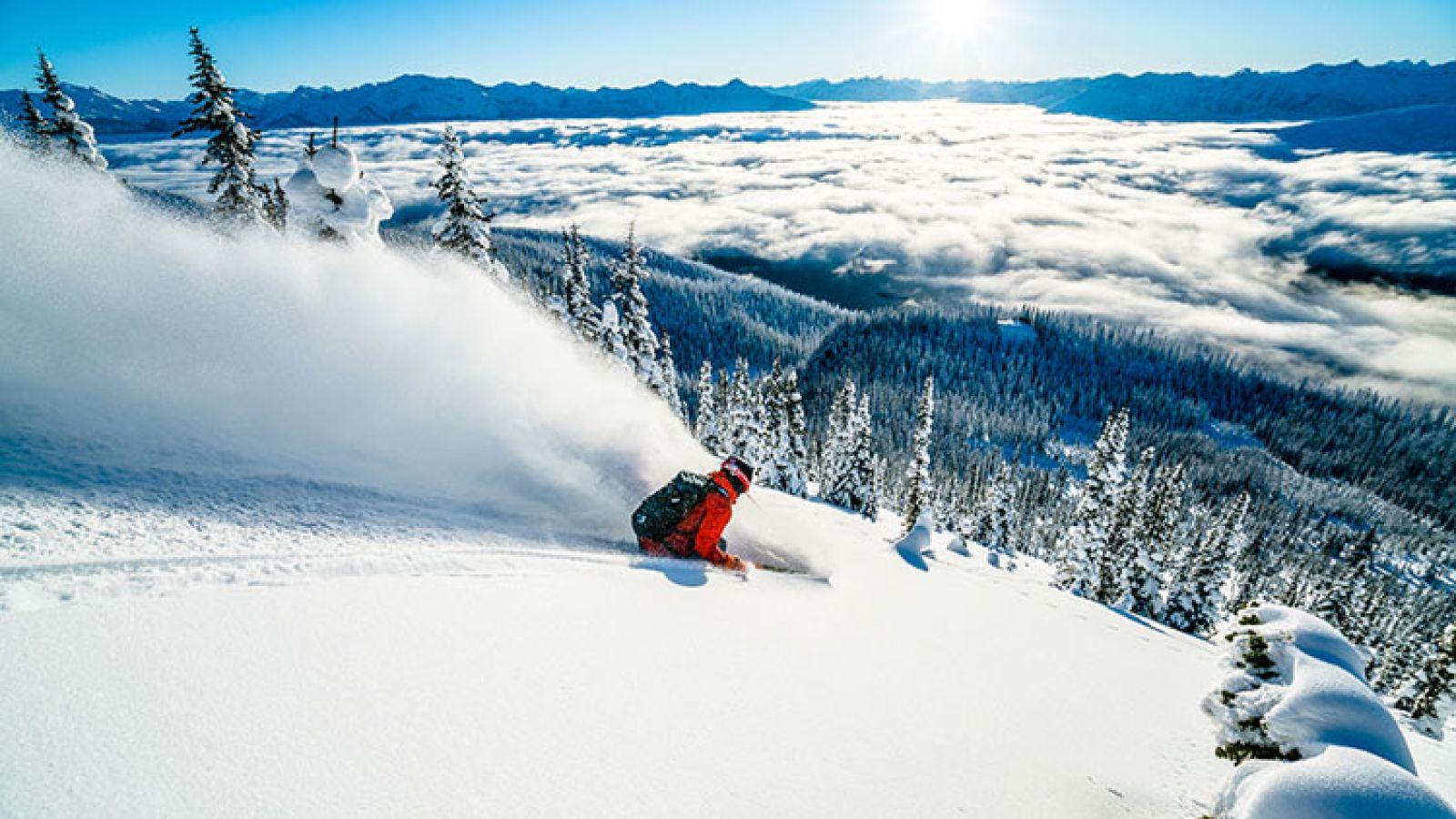 Excellent diverse ski terrain.
