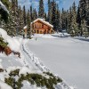 Winter at Mistaya Lodge.
