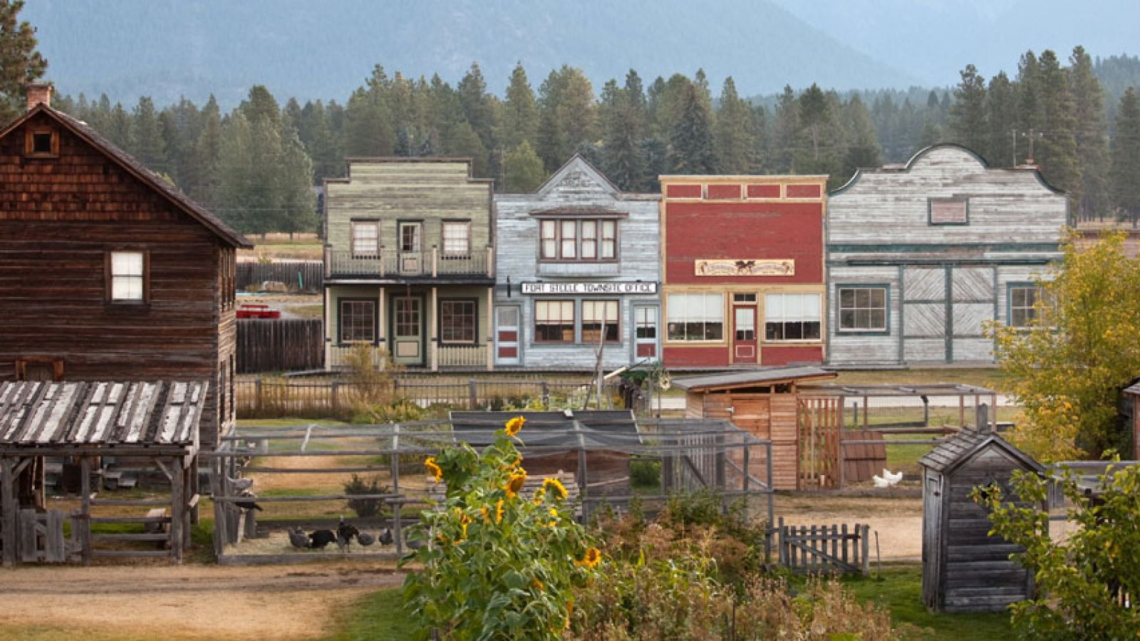 Fort Steele Heritage Town Main Street.