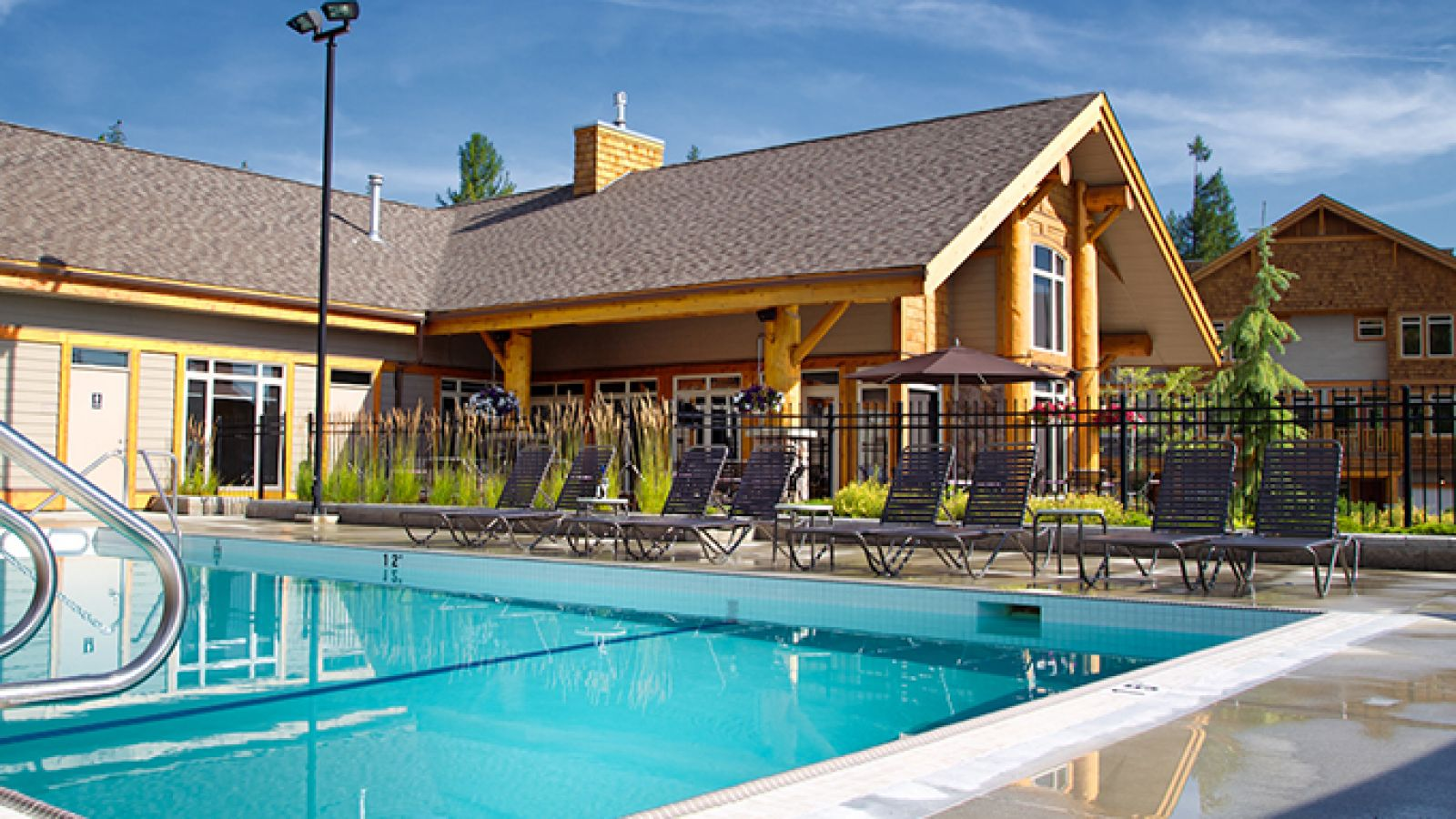 Enjoy the year-round heated outdoor pool.