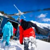 The resort offers daily heli-skiing and snowmobiling.